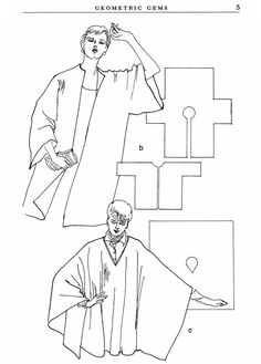 Make your own dress & clothing patterns from  Dover Publications