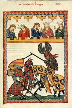 "Reconstruction was done on the basis of images from the ""Codex Manesse"" (1300-1340)."