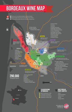 Bordeaux Map. So many wines so little time. Try St Emilion if you are in the region.