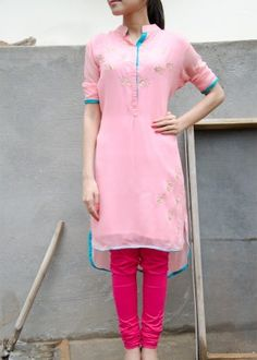 Baby Pink Georgette  Tunic