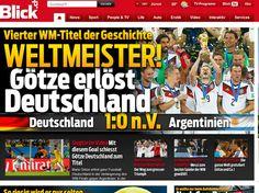 Pressestimmen zum WM-Finale 2014 Deutschland - Argentinien in ...