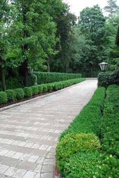 31 Amazing Front Yard Design Ideas that make Naturally - Landschaftsbau Driveway Entrance Landscaping, Driveway Design, Front Yard Design, Modern Driveway, Walkway, Modern Landscape Design, Modern Landscaping, Backyard Landscaping, Landscaping Ideas