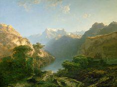 Titre de l'image : Alexandre Calame - le lac Urnersee