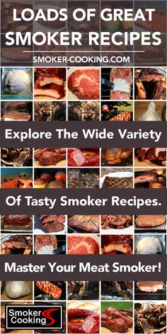 So Many Smoker Recipes, So Little Time! You'll Delight In Your Delicious Smoke-Kissed Foods! - So Many Smoker Recipes, So Little Time! You'll Delight In Your Delicious Smoke-Kissed Foods! Smoked Brisket, Smoked Ribs, Pellet Grill Recipes, Grilling Recipes, Chicken Smoker Recipes, Electric Smoker Recipes, Grilled Chicken Recipes, Churros, Chuck Roast Recipes