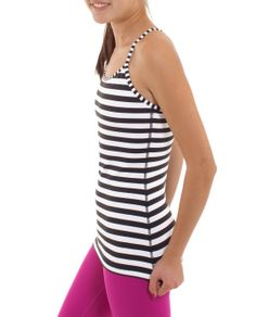 rocking the sweaty look in stripes | Tumblin' Tank