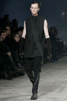 Rick Owens DRKSHDW Black Denim Long Outwear Coat Size M