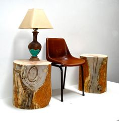 Reclaimed Timber Side Tables by realwoodworks1 on Etsy