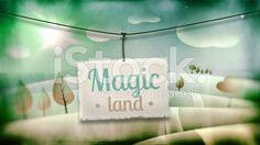 Magic land, vintage children illustration royalty-free stock photo