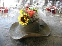 A perfect centerpiece for a western/rustic wedding!