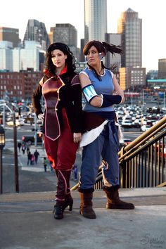 Asami Sato from The Legend of Korras as Rising Moon Cosplay. Korra from The Legend of Korras as Deviyantee. The Legend of Korra Avatar Cosplay, Top Cosplay, Best Cosplay, Cosplay Costumes, Anime Cosplay, Cosplay Ideas, Costume Ideas, Korra Avatar, Aang
