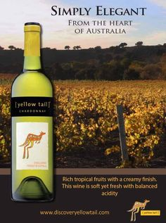 Yellow Tail wine advertisement by Hillary Dulock, via Behance
