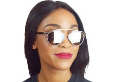 Mirrored Pantos Aviator Sunglasses