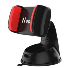 "Neotrix Dashboard Cell Phone Car Mount Holder Windshield Window Phone Cradle with Strong Sticky Suction Cup and Anti-slip Silicone Clamp(Color Black and Red). Supports devices with a width ranging between 1.97"" and 3.94"", compatible with nearly all smartphones & GPS devices on the market. Car mount easily attaches to either your dashboard or windshield and securely holds your phone while you're driving. Washable sticky suction cup pad by rinsing it with warm water and letting it air dry…"