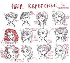 How to draw different women's hairstyles realistically