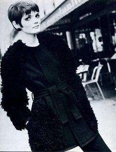 Linda Morand modeling 1960's fashion