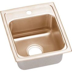 Elkay LRAD1316401-CU Lustertone CuVerro Antimicrobial Copper Single Bowl Top Mount Sink with Single Faucet Hole, Multicolor