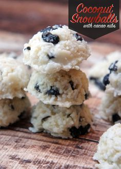 coconut date paleo snowball cookies