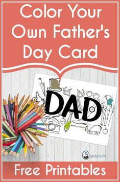 Color Your Own Father's Day Card