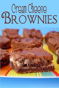 Cream Cheese Brownies with Chocolate Frosting from @jamiecooksitup...making some of these this afternoon for a friend. If you haven't tried them yet, boy howdy...give them a go. They are fantastic!