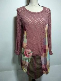Hey, I found this really awesome Etsy listing at https://www.etsy.com/listing/579719283/upcycled-dusy-rose-shirt-dress-size