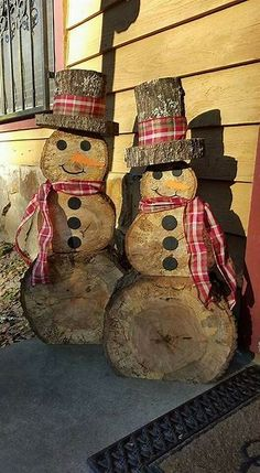 Image result for Wooden Snowman Crafts