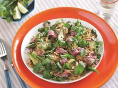 I just whipped this up in 20 minutes, super easy and tasty! Vietnamese Noodle and Beef Salad Recipe | Everywhere - DailyCandy