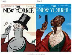 Evolución en las portadas de revistas