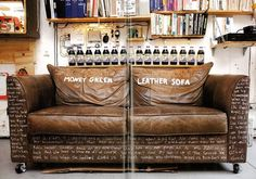 Tips That Help You Get The Best Leather Sofa Deal. Leather sofas and leather couch sets are available in a diversity of colors and styles. A leather couch is the ideal way to improve a space's design and th Green Leather Sofa, Best Leather Sofa, Leather Chesterfield, Yellow Leather, Sofa Deals, Buy Sofa, Couch Set, Interior Decorating, Interior Design