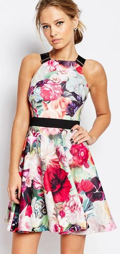 cbbd9603b23e1a Fancy floral print dress by Ted Baker London Ted Baker Dress Floral