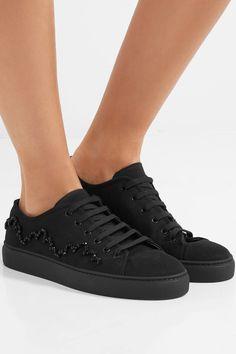 Simone Rocha - Bead-embellished Canvas Sneakers - Black