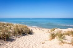 The sand dunes and beach of Lacanau, France Types Of Photography, Aerial Photography, Wildlife Photography, Landscape Photography, Beautiful Beach Pictures, Beach Images, Beach Photos, Most Beautiful Beaches, Beautiful Places