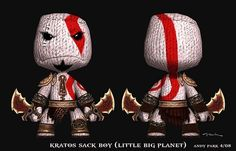 GoW - Kratos Sack boy (Little Big Planet)
