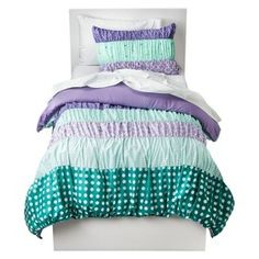 Circo® Dots & Stripes Ruched Bed Set - Purple : Target Mobile