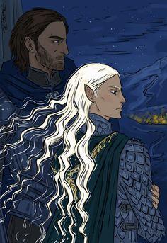 Elena and Gavin by PhantomRin - art & illustration