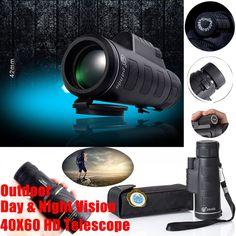 Day Night Vision 40x60 HD Optical Monocular Hunting Camping Hiking Telescope HL #Panda