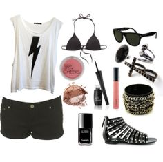 I think I would actually wear this...not the shoes, bracelet,or rings though.
