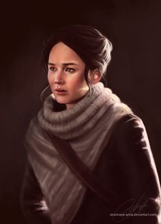 Katniss Everdeen (The Hunger Games) + VIDEO! by strannaya-anna on DeviantArt Hunger Games Catching Fire, Hunger Games Trilogy, Movie Kisses, I Volunteer As Tribute, In Theaters Now, Perfect Movie, Katniss Everdeen, How Many People, Mockingjay