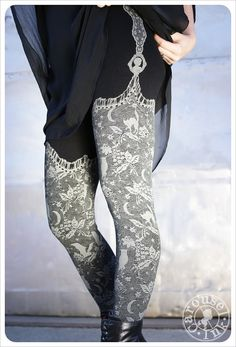 Hey, I found this really awesome Etsy listing at https://www.etsy.com/listing/168244679/reduced-black-night-lace-leggings-womens