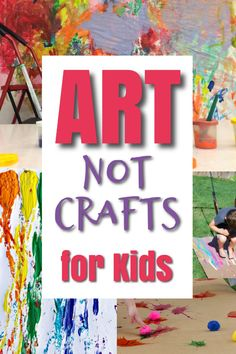 Messy Art Activities for Kids - How Wee Learn - These are great art projects for kids to make! These are process art activities for kids that are m - Preschool Art Projects, Preschool Arts And Crafts, Art Activities For Kids, Arts And Crafts Projects, Art For Kids, Crafts For Kids, Kids Paint Crafts, Art Project For Kids, Art Projects For Toddlers