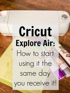 Cricut Explore Air: Beginner's Guide to show you exactly how easy it is to begin using your new Cricut! You will be creating with vinyl and stencils in minutes!  @OfficialCricut #ad #cricutmade