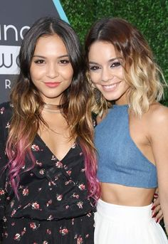 Stella and her sis Vanessa Hudgens are seriously werkin' those ombré 'dos.