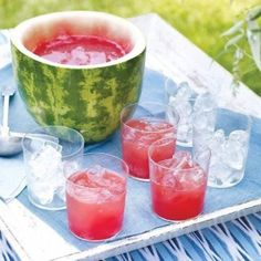 Flower Watermelons make great Watermelon Punch Bowls!
