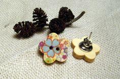 Fargeglade treblomster til ørene Stud Earrings, Jewelry, Fashion, Moda, Jewlery, Jewerly, Fashion Styles, Stud Earring, Schmuck