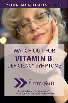 Vitamin B Deficiency | Studies found that a low-carb diet, restricting 20 grams of carbs daily, was only deficient in pantothenic acid (B-5) and biotin (B-7). It met 100% or more of the recommended daily intake for the other B vitamins! So, what causes vitamin B deficiency? Learn more about the causes, symptoms and prevention of vitamin B deficiency! | #VitaminBDeficiency #SymptomsOfVitaminBDeficiency #PreventVitaminBDeficiency Menopause Diet, Menopause Relief, Menopause Symptoms, Supplements For Anxiety, Supplements For Women, Natural Supplements, Vitamin B Deficiency Symptoms, Vitamin B Foods