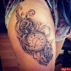 clock in roses