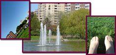 Visitando Pamplona: el parque Yamaguchi, ideal para estirarse al sol en sobre césped. Spas, Yamaguchi, Pamplona, Waterfall, Outdoor, Hotels, Parks, Movies, Fotografia