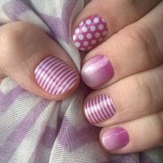 Jamberry Orchid Ombre, Orchid Polka, & Orchid Skinny | Wouldn't you just love to host a party, or sign-up to be a consultant?  Let's talk!  Like my Facebook page, and message me at www.facebook.com/MeliJams | Get 'em here:    www.melichase.jamberrynails.net