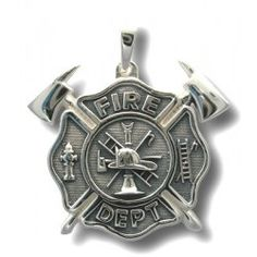 Silver Maltese Cross with Axes. Visit our store front!