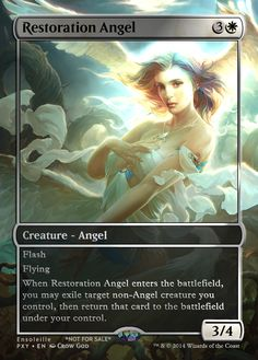Magic the Gathering - Restoration Angel by ASliceOfUnagi on DeviantArt