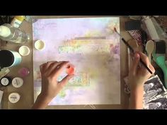 Mixed Media Layout for Blue Fern Studios - YouTube